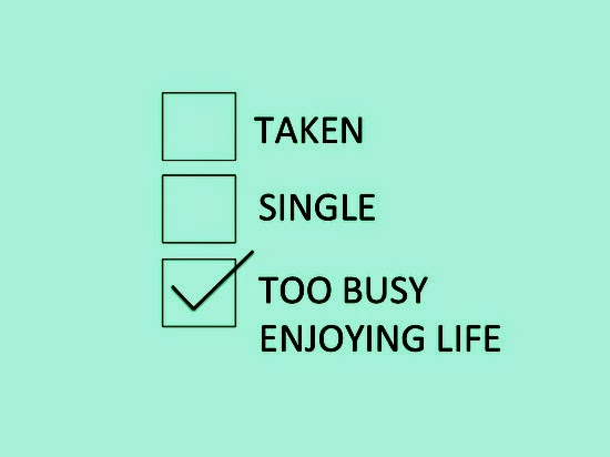 Good things about being single